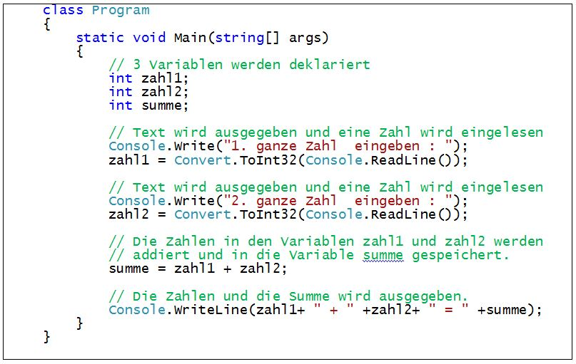 C#_Arithmetische_Operatoren_Programm