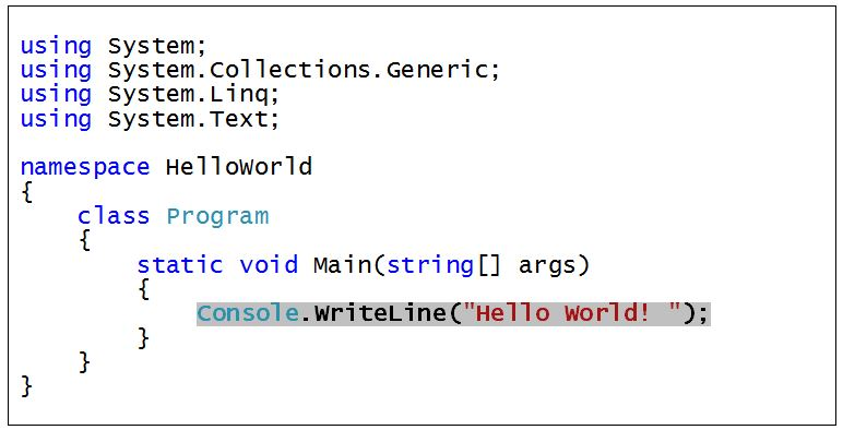 C#_Hello_World_Programm