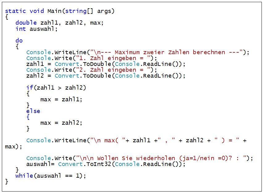 C#_dowhile_Schleife_BspProgramm